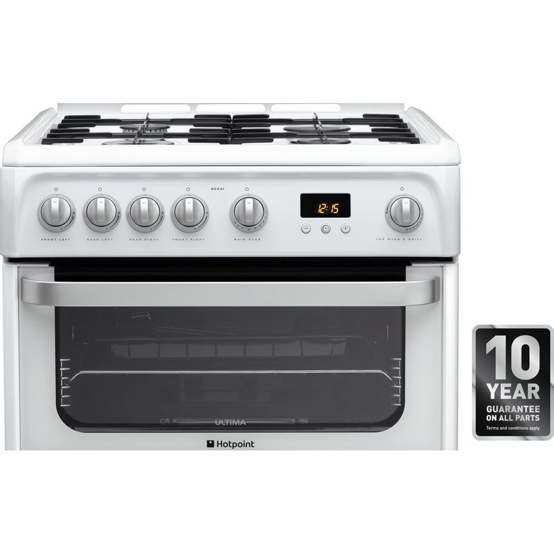 Hotpoint-Double-Cooker-HUG61P-White-A--Enamelled-Sheetmetal-Award