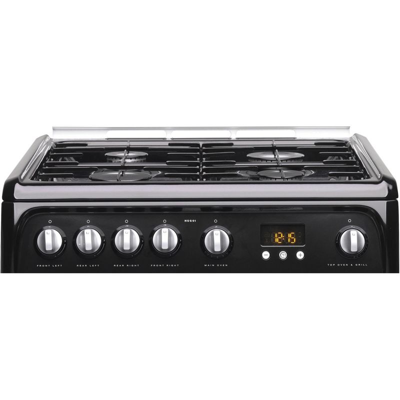 Hotpoint-Double-Cooker-HUG61K-Black-A--Enamelled-Sheetmetal-Control-panel
