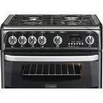 Hotpoint-Double-Cooker-CH60GCIK-Black-A--Enamelled-Sheetmetal-Frontal