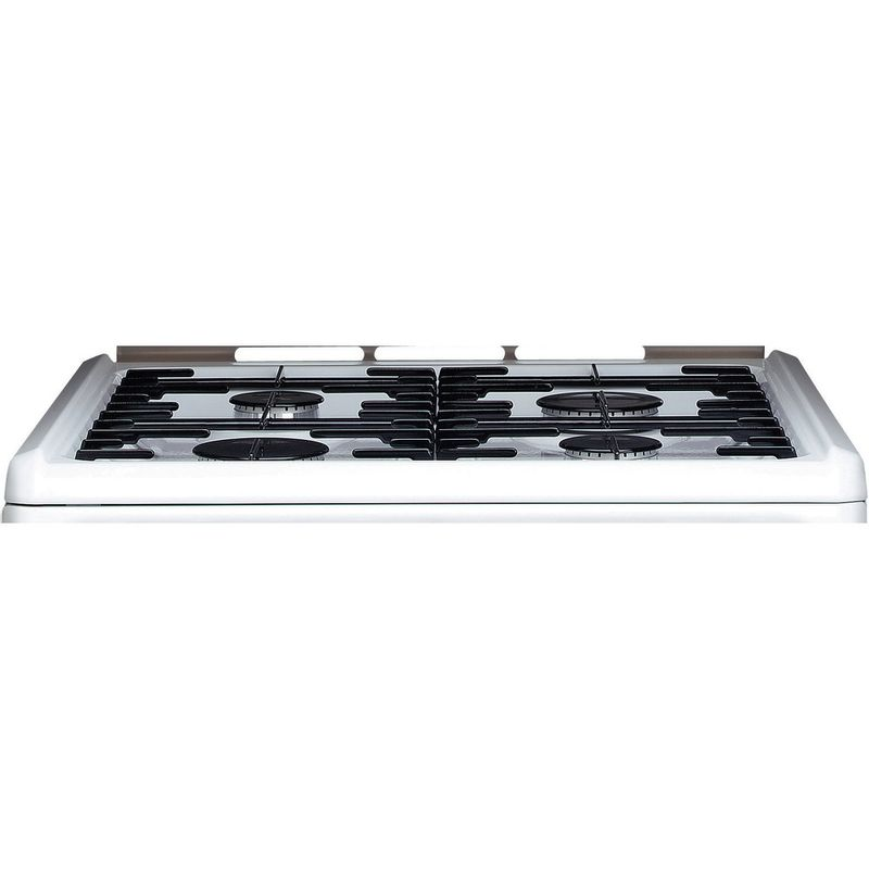 Hotpoint-Double-Cooker-CH60GCIW-White-A--Enamelled-Sheetmetal-Frontal-top-down