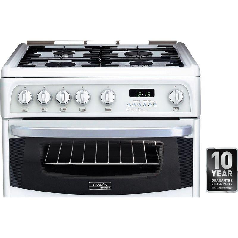 Hotpoint-Double-Cooker-CH60GCIW-White-A--Enamelled-Sheetmetal-Award