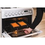 Hotpoint-Double-Cooker-CH60GCIW-White-A--Enamelled-Sheetmetal-Lifestyle-people