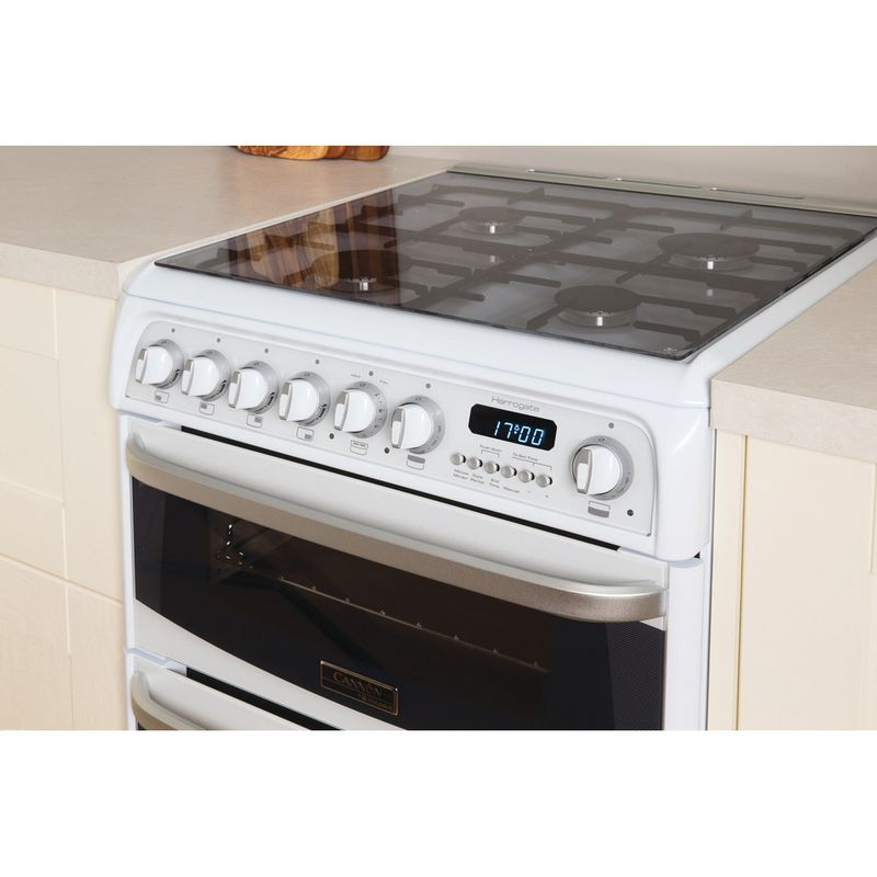 Hotpoint-Double-Cooker-CH60GCIW-White-A--Enamelled-Sheetmetal-Lifestyle-perspective