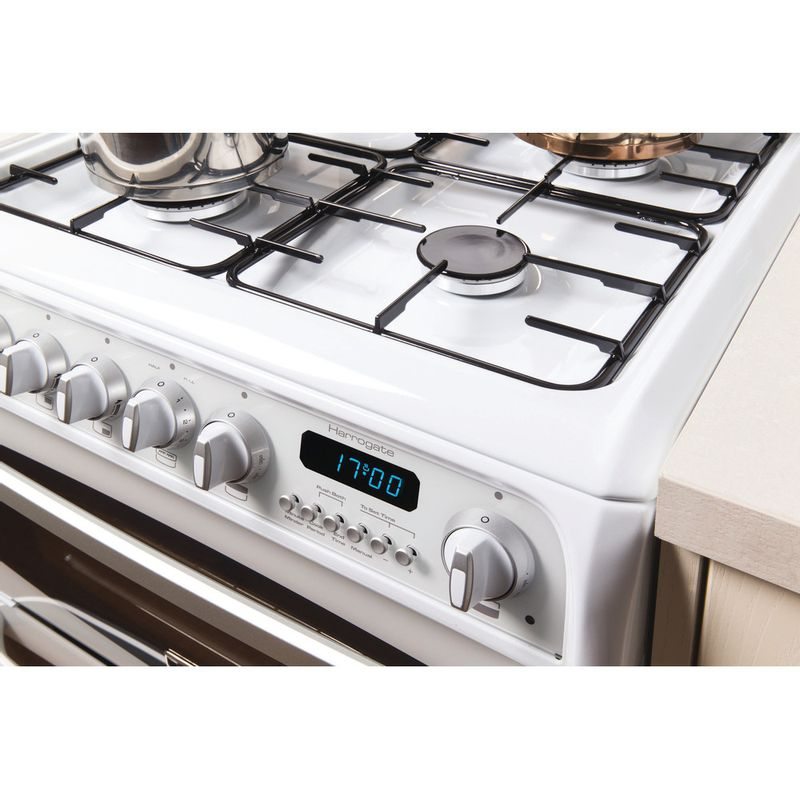 Hotpoint-Double-Cooker-CH60GCIW-White-A--Enamelled-Sheetmetal-Lifestyle-control-panel
