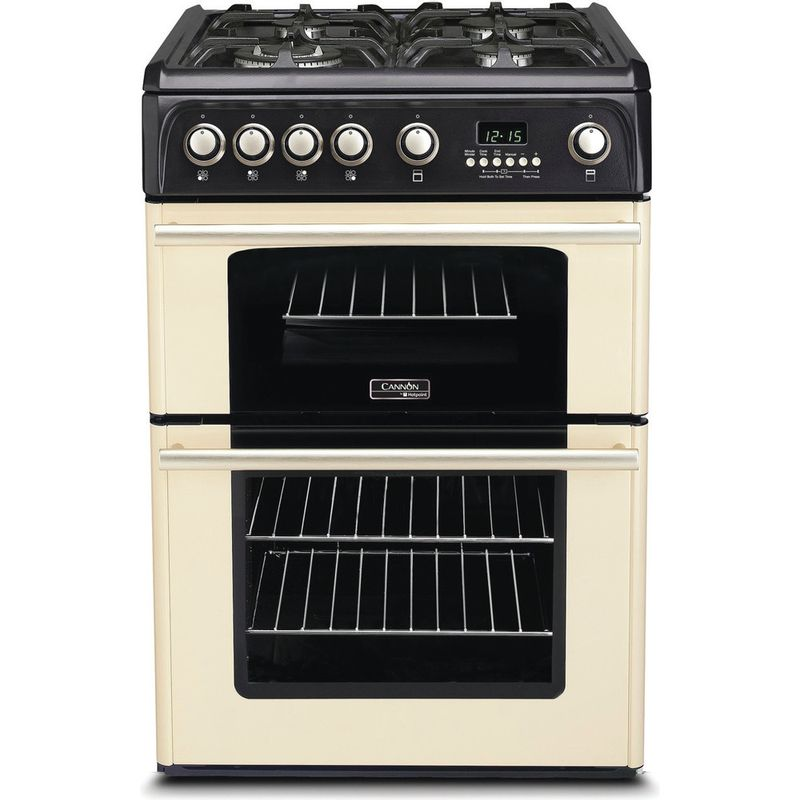 Hotpoint-Double-Cooker-CH60GPCF-Charcoal-grey-A--Enamelled-Sheetmetal-Frontal