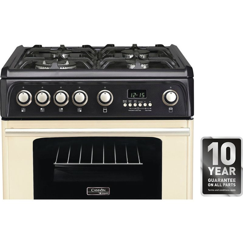 Hotpoint-Double-Cooker-CH60GPCF-Charcoal-grey-A--Enamelled-Sheetmetal-Award