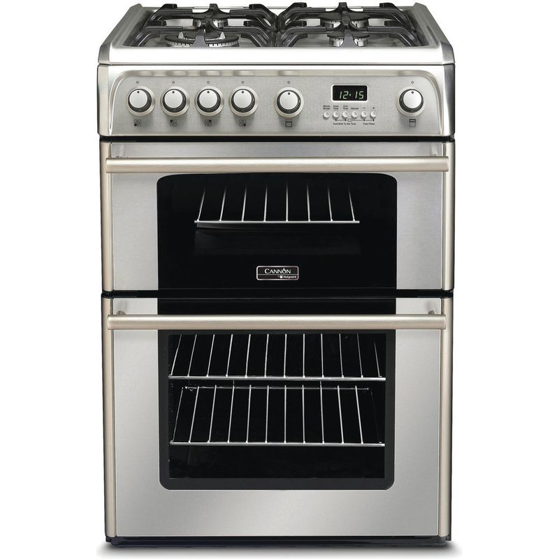 Hotpoint-Double-Cooker-CH60GPXF-Inox-A--Stainless-steel-Frontal