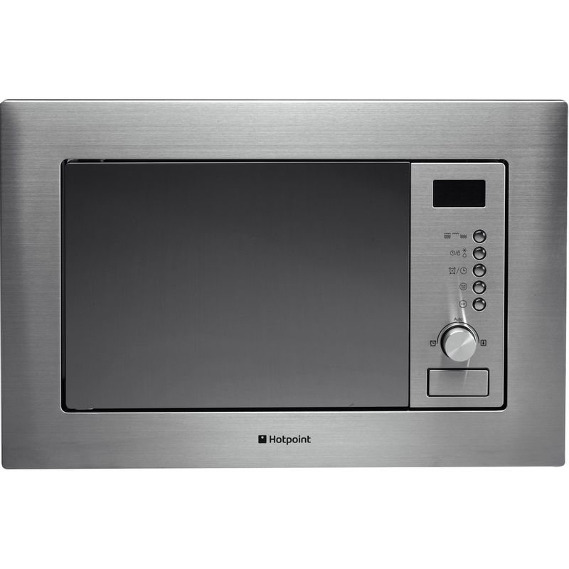 Hotpoint-Microwave-Built-in-MWH-122.1-X-Stainless-steel-Electronic-20-MW-Grill-function-800-Frontal