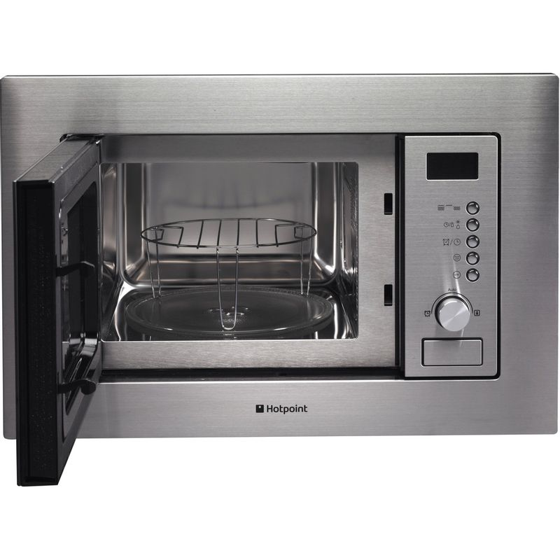 Hotpoint-Microwave-Built-in-MWH-122.1-X-Stainless-steel-Electronic-20-MW-Grill-function-800-Frontal_Open
