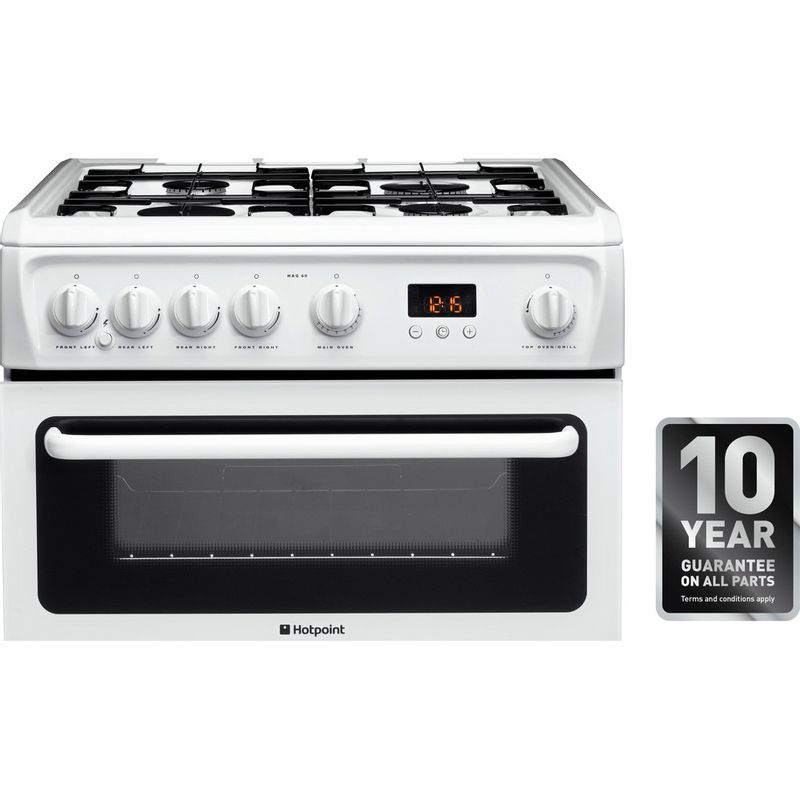 Hotpoint-Double-Cooker-HAGL60P-White-A--Enamelled-Sheetmetal-Award