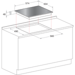 Hotpoint-HOB-CRC641DB-Black-Radiant-vitroceramic-Technical-drawing