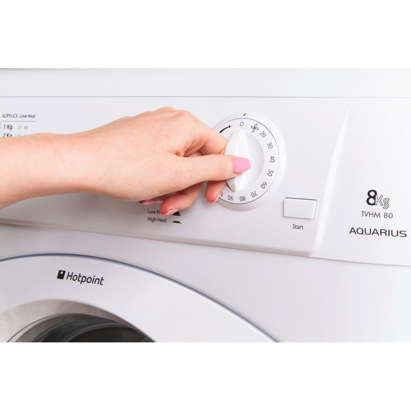 Hotpoint-Dryer-TVHM-80C-P--UK--White-Lifestyle-people