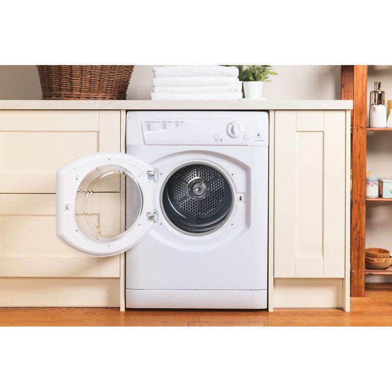 Hotpoint-Dryer-TVHM-80C-P--UK--White-Lifestyle-frontal-open