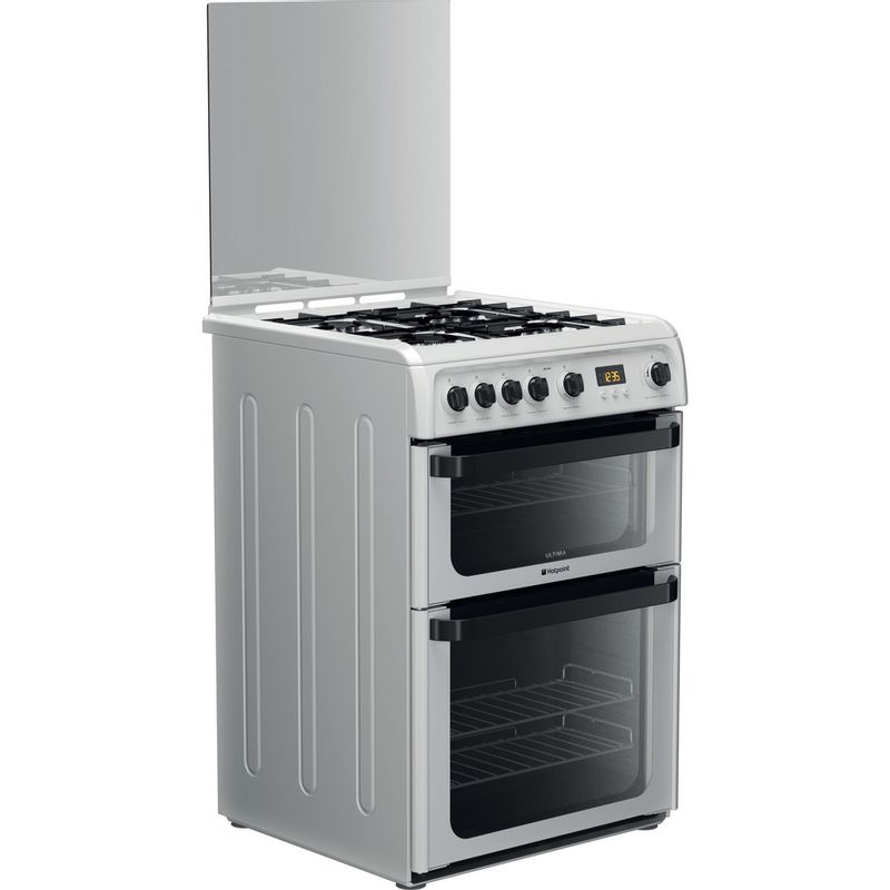 Hotpoint-Double-Cooker-JLG60P-White-A--Enamelled-Sheetmetal-Perspective