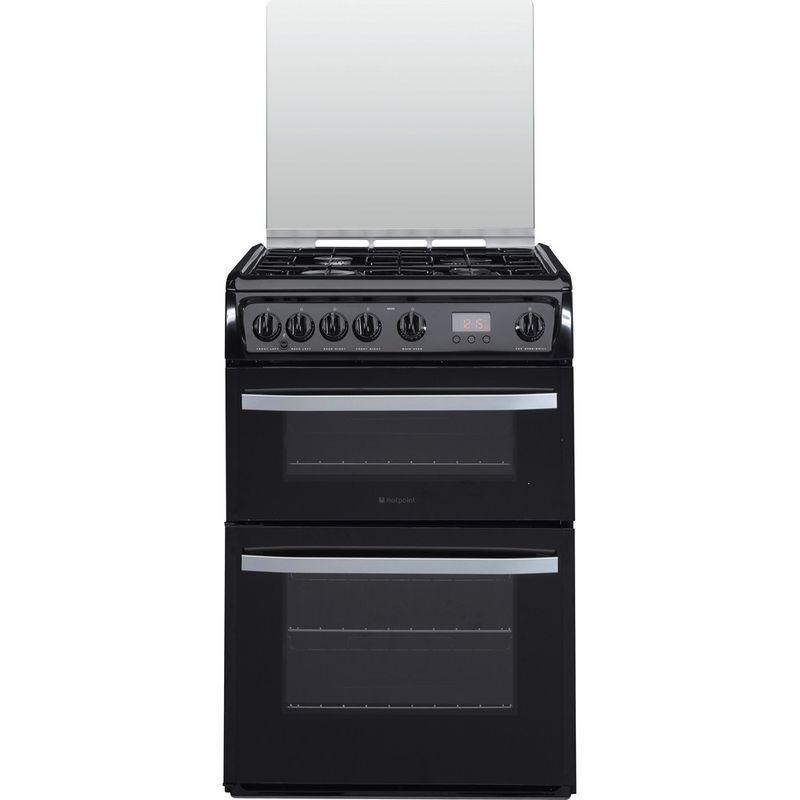 Hotpoint-Double-Cooker-DSG60K-Black-A--Enamelled-Sheetmetal-Frontal