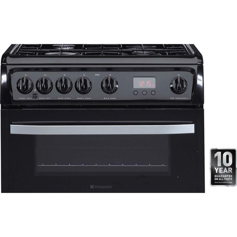 Hotpoint-Double-Cooker-DSG60K-Black-A--Enamelled-Sheetmetal-Award
