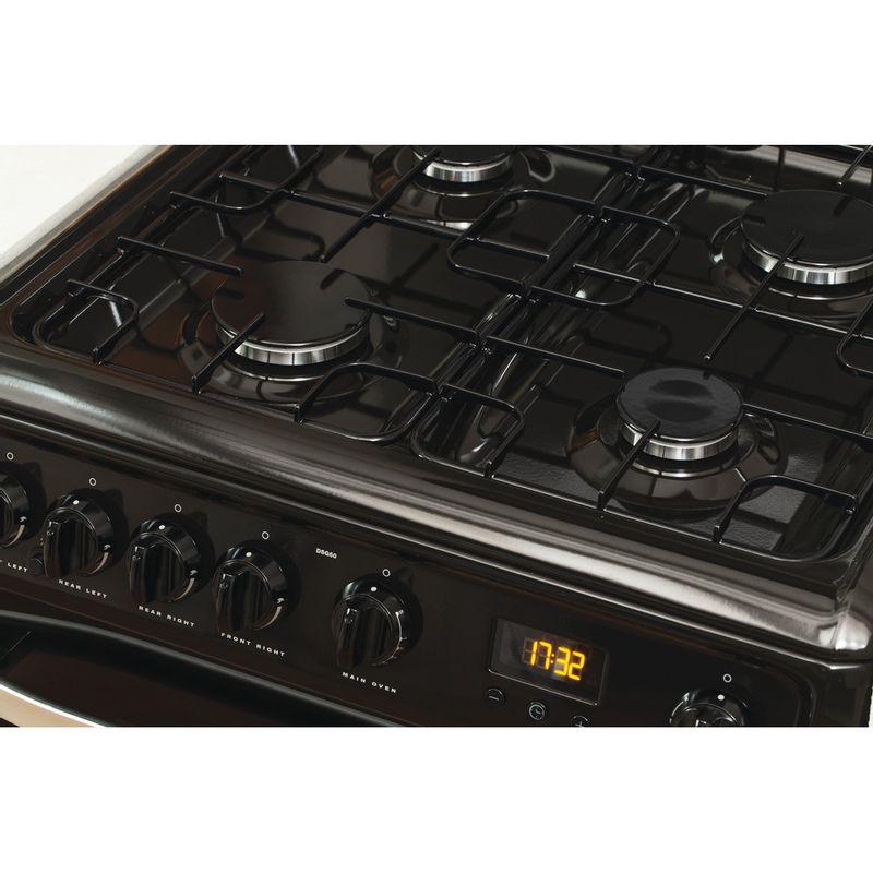 Hotpoint-Double-Cooker-DSG60K-Black-A--Enamelled-Sheetmetal-Lifestyle-control-panel