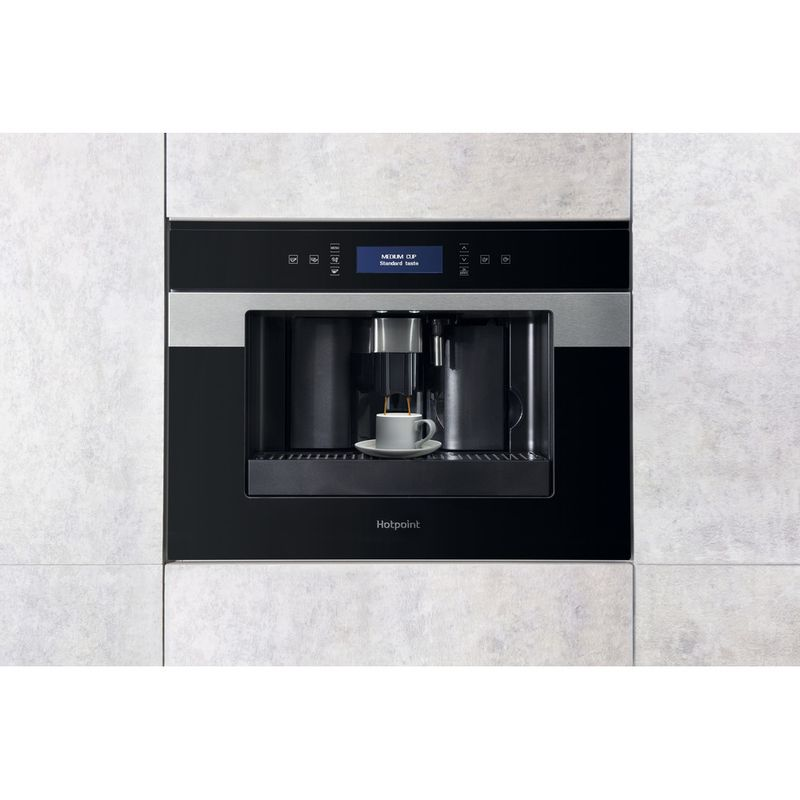 Hotpoint-Built-in-coffee-machine-CM-9945-H-Black-Inox-Fully-automatic-Lifestyle-frontal