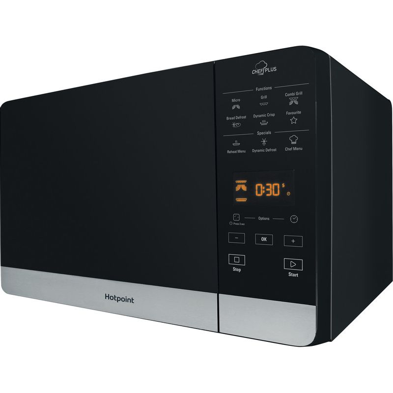 Hotpoint-Microwave-Free-standing-MWH-27321-B-Black-Electronic-25-MW-Grill-function-800-Perspective