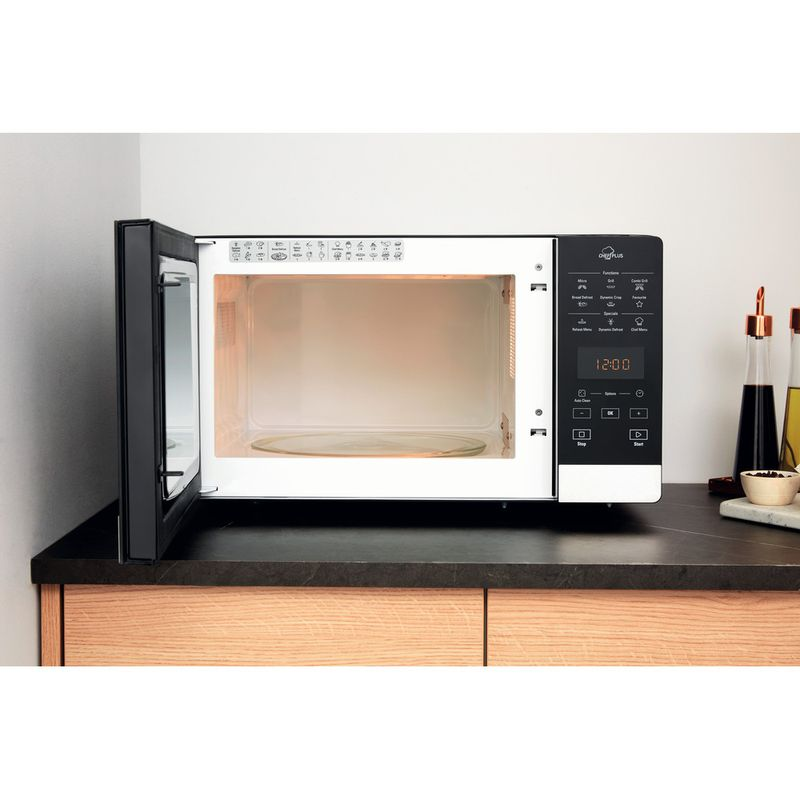 Hotpoint-Microwave-Free-standing-MWH-27321-B-Black-Electronic-25-MW-Grill-function-800-Lifestyle-frontal-open