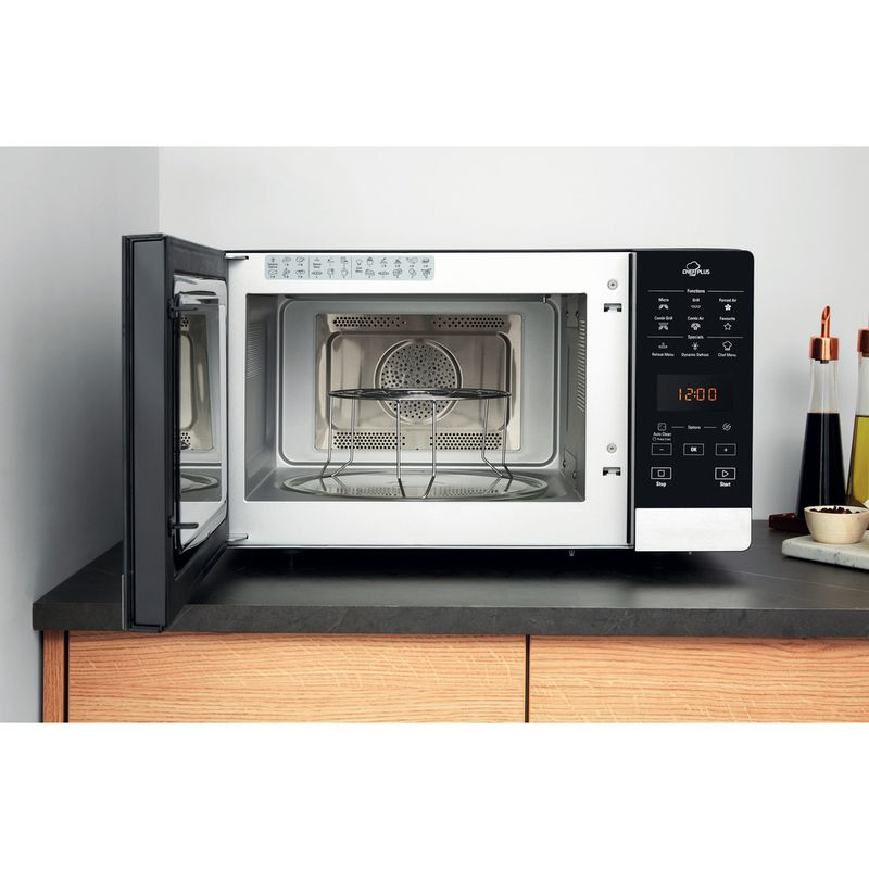Hotpoint-Microwave-Free-standing-MWH-2734-B-Black-Electronic-25-MW-Combi-800-Lifestyle-frontal-open
