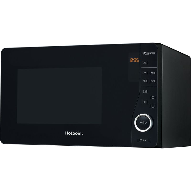 Hotpoint-Microwave-Free-standing-MWH-2621-MB-Black-Electronic-25-MW-only-800-Perspective