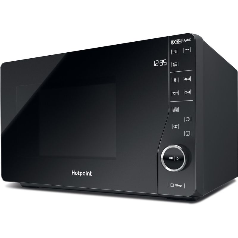 Hotpoint-Microwave-Free-standing-MWH-2622-MB-Black-Electronic-25-MW-Grill-function-800-Perspective