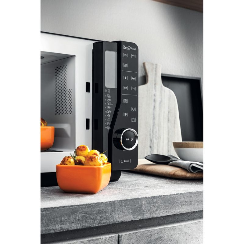 Hotpoint-Microwave-Free-standing-MWH-2622-MB-Black-Electronic-25-MW-Grill-function-800-Lifestyle-control-panel
