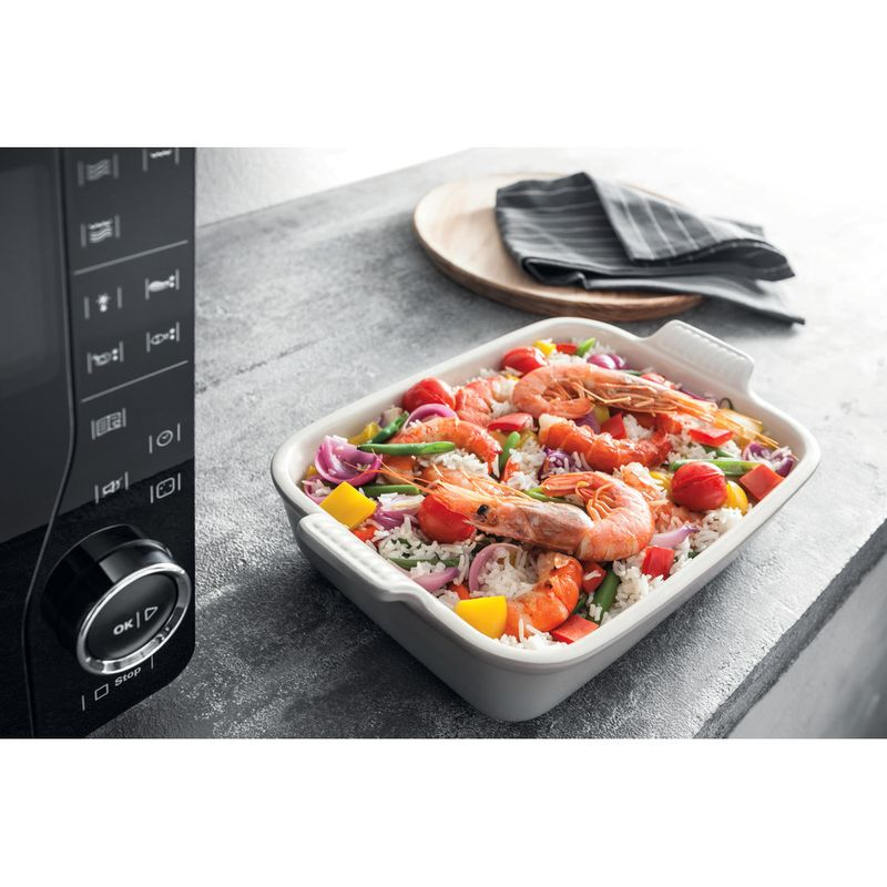 Hotpoint-Microwave-Free-standing-MWH-2622-MB-Black-Electronic-25-MW-Grill-function-800-Food