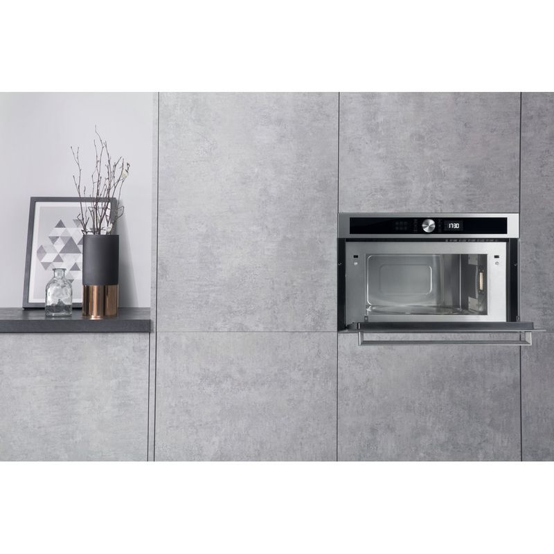 Hotpoint-Microwave-Built-in-MD-554-IX-H-Stainless-steel-Electronic-31-MW-Grill-function-1000-Lifestyle-frontal-open