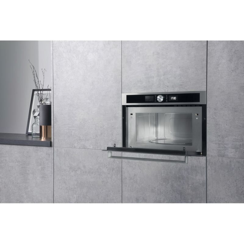 Hotpoint-Microwave-Built-in-MD-554-IX-H-Stainless-steel-Electronic-31-MW-Grill-function-1000-Lifestyle-perspective-open