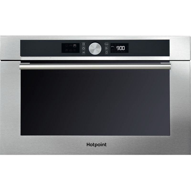 Hotpoint-Microwave-Built-in-MD-454-IX-H-Stainless-steel-Electronic-31-MW-Grill-function-1000-Frontal