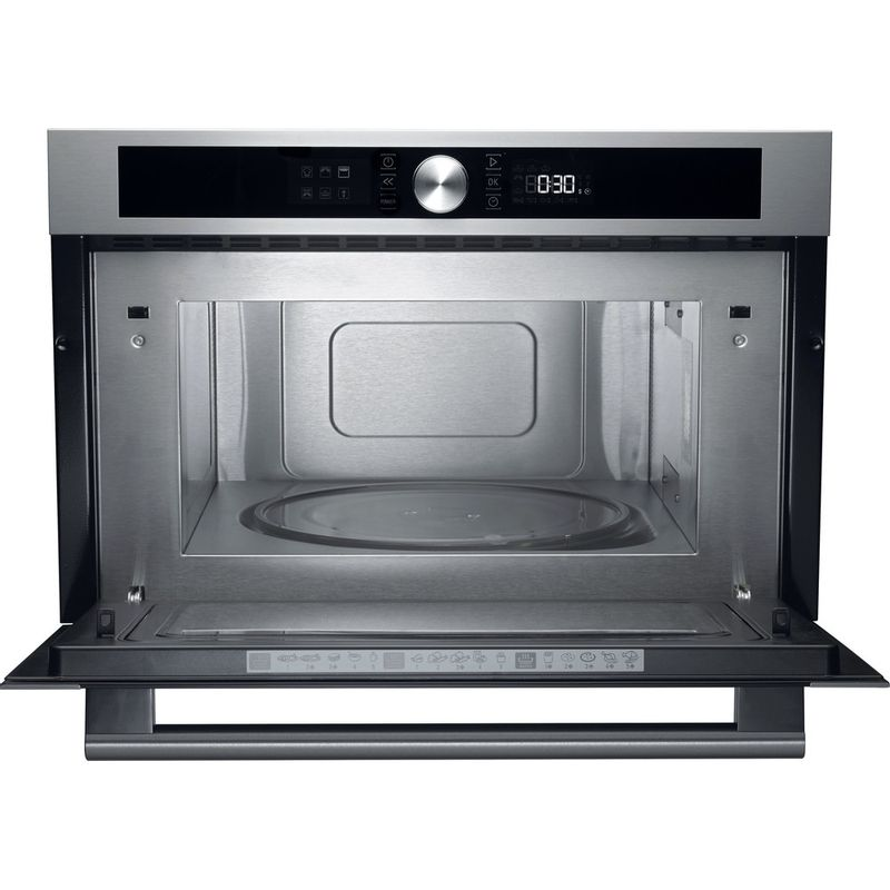 Hotpoint-Microwave-Built-in-MD-454-IX-H-Stainless-steel-Electronic-31-MW-Grill-function-1000-Frontal-open