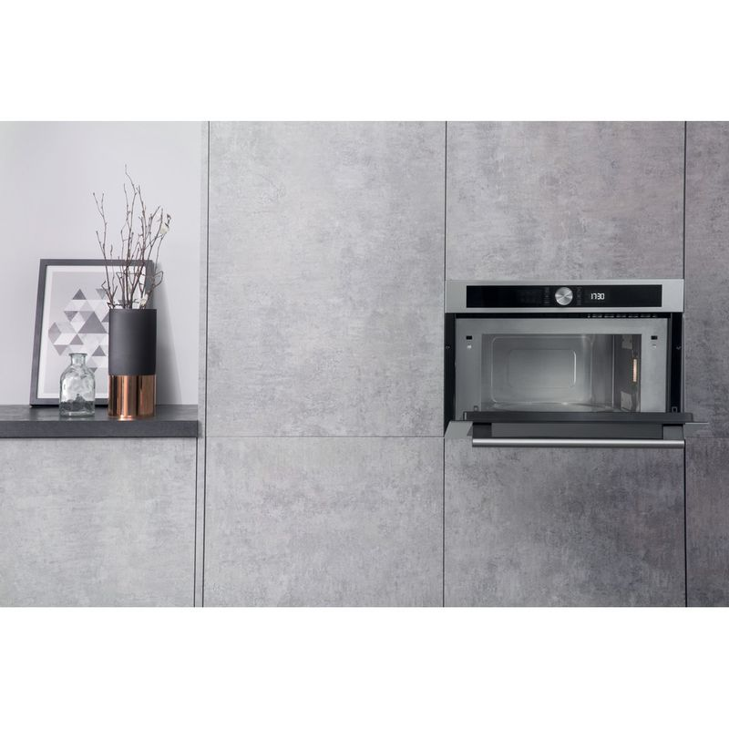 Hotpoint-Microwave-Built-in-MD-454-IX-H-Stainless-steel-Electronic-31-MW-Grill-function-1000-Lifestyle-frontal-open