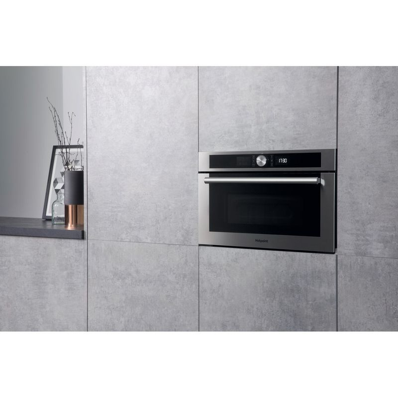 Hotpoint-Microwave-Built-in-MD-454-IX-H-Stainless-steel-Electronic-31-MW-Grill-function-1000-Lifestyle-perspective