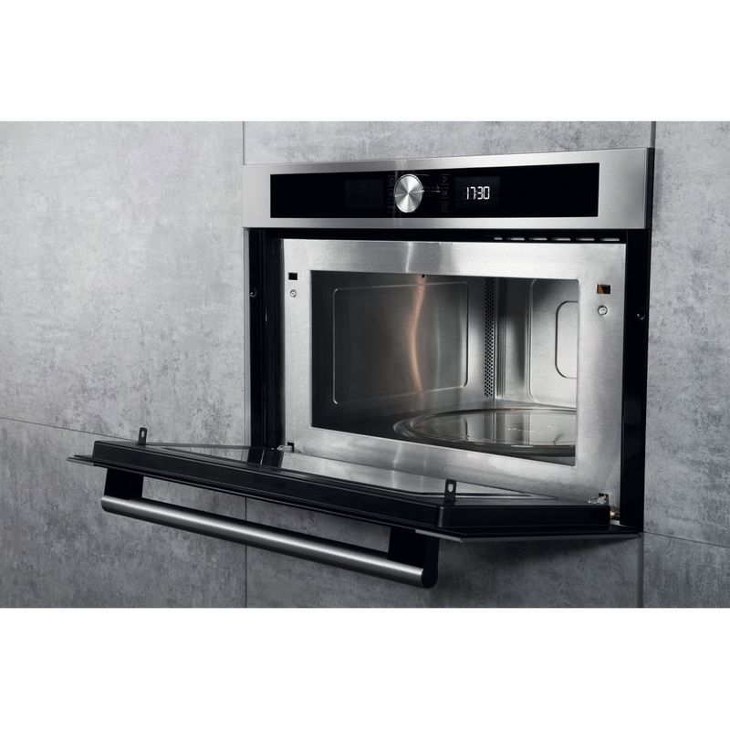 Hotpoint-Microwave-Built-in-MD-454-IX-H-Stainless-steel-Electronic-31-MW-Grill-function-1000-Lifestyle-perspective-open