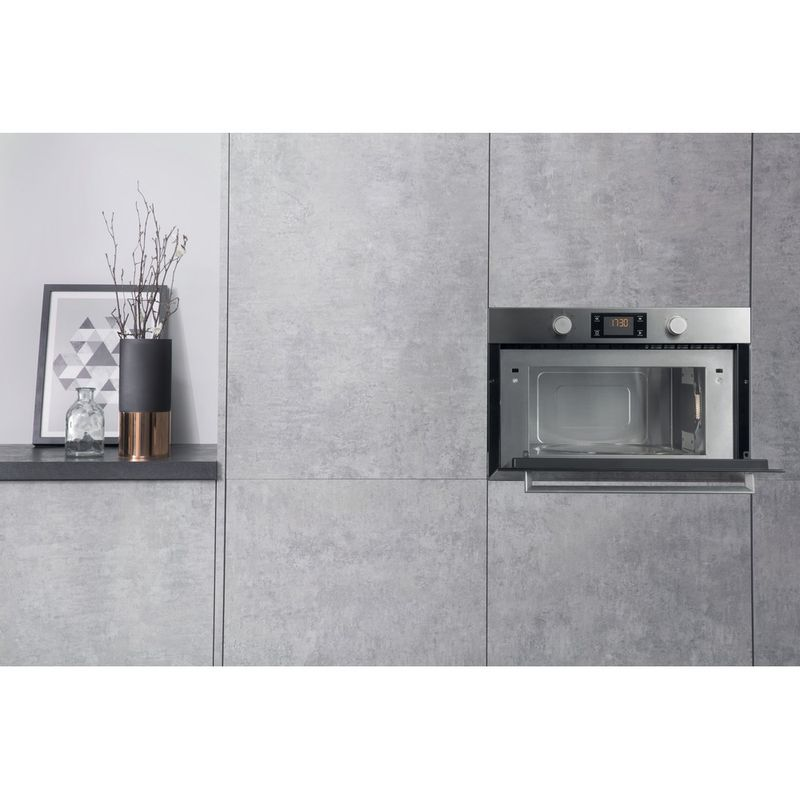 Hotpoint-Microwave-Built-in-MD-344-IX-H-Stainless-steel-Electronic-31-MW-Grill-function-1000-Lifestyle-frontal-open