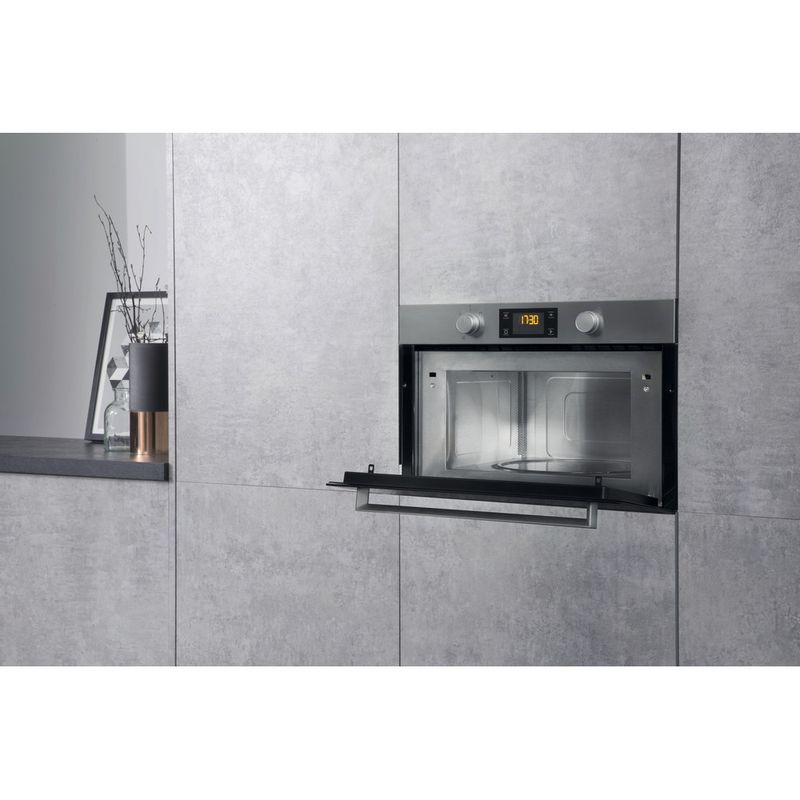 Hotpoint-Microwave-Built-in-MD-344-IX-H-Stainless-steel-Electronic-31-MW-Grill-function-1000-Lifestyle-perspective-open