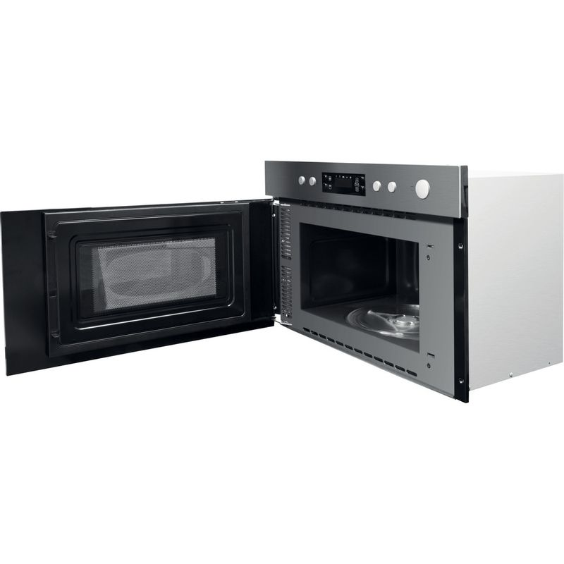 Hotpoint-Microwave-Built-in-MN-314-IX-H-Stainless-steel-Electronic-22-MW-Grill-function-750-Perspective-open