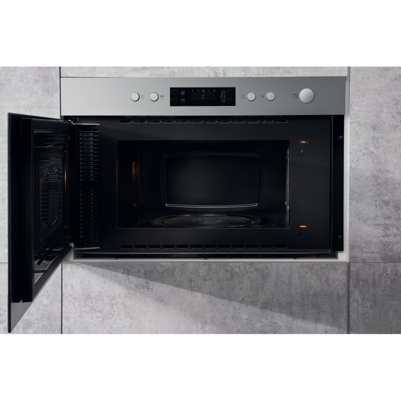 Hotpoint-Microwave-Built-in-MN-314-IX-H-Stainless-steel-Electronic-22-MW-Grill-function-750-Lifestyle-frontal-open