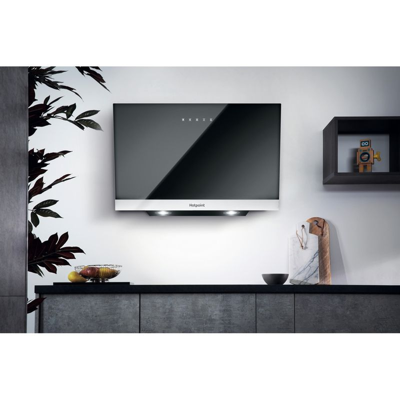 Hotpoint-HOOD-Built-in-PHVP-8.7F-LT-K-Black-Wall-mounted-Electronic-Lifestyle-frontal