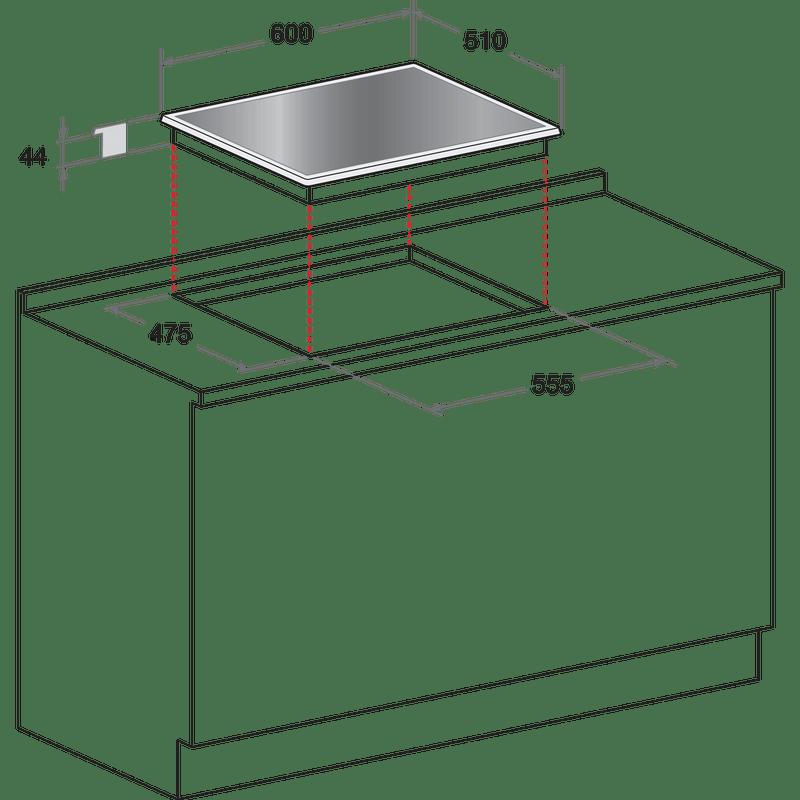 Hotpoint-HOB-DD-642-W-H-BK--Black-GAS-Technical-drawing