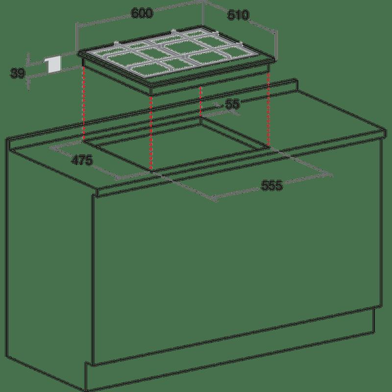 Hotpoint-HOB-PCN-641-IX-H-Inox-GAS-Technical-drawing