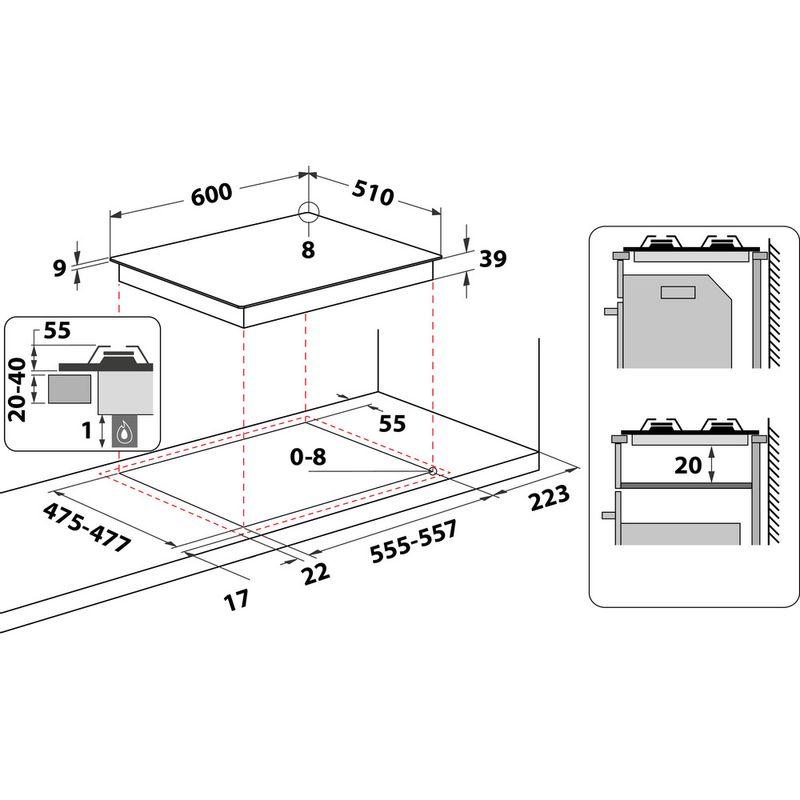 Hotpoint-HOB-PCN-642-T-H-BK--Black-GAS-Technical-drawing