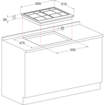 Hotpoint-HOB-PKLL-641-D2-IX-H-Inox-GAS-Technical-drawing