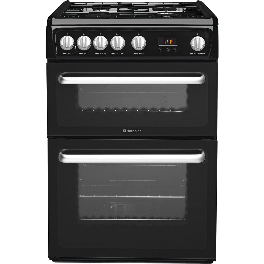Hotpoint Double Cooker HARG60K : discover the specifications of our home appliances and bring the innovation into your house and family.