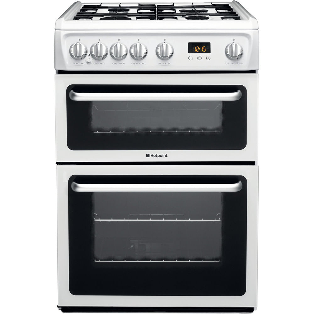 Hotpoint Double Cooker HARG60P : discover the specifications of our home appliances and bring the innovation into your house and family.