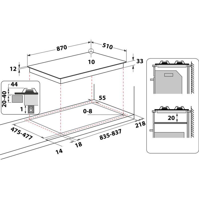 Hotpoint-HOB-PHC-961-TS-IX-H-Inox-GAS-Technical-drawing