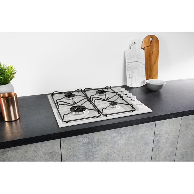 Hotpoint-HOB-PAS-642--H-WH--White-GAS-Lifestyle-perspective