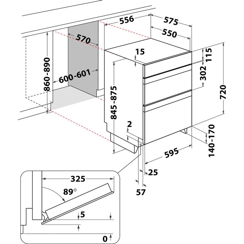 Hotpoint-Double-oven-DU4-541-IX-Inox-A-Technical-drawing